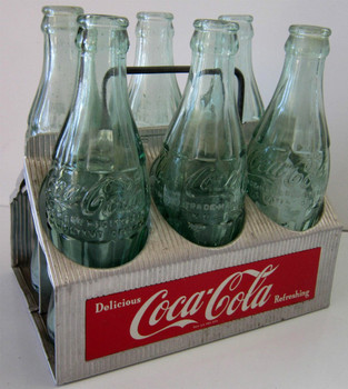 Original Aluminum Coca-Cola Six Pack Carrier Circa 1950