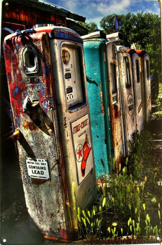 Rustic Gas Pumps (sideview)