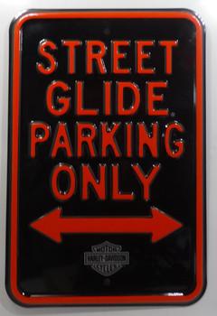 Street Glider Harley Davidson Metal Sign
