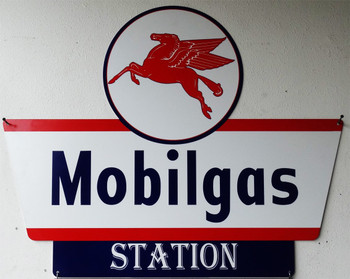 Mobilgas Station Plasma Cut Metal Sign