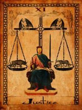 Justice-Tarot Metal Sign