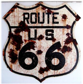 Route 66 Shield rustic (jumbo)