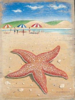 Starfish Metal Sign