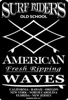 Surf Riders Old School Aluminum Sign