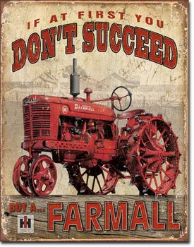 Farmall Succeed Metal Sign