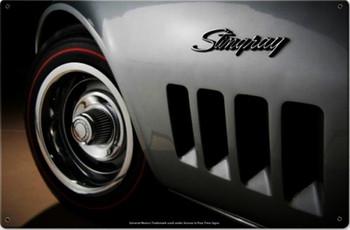 Corvette Sting Ray 1969 Metal Sign