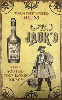 Captain Jack's Rum Alcohol Metal Sign