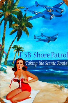 Shore Patrol Pin-Up Metal Sign