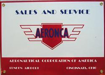 Aeronca Porcelain Sign