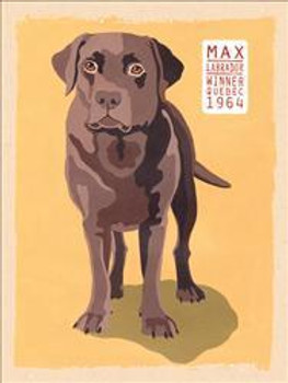 Chocolate Labrador Metal Sign