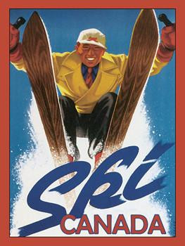 Ski Canada 1 Metal Sign