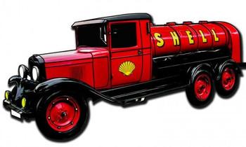 Shell Tanker Truck ( plasma cut )