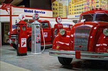 Mobil & Texaco Tanker Metal Sign