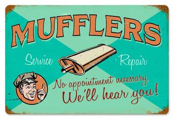 Mufflers Service-Repair Metal Sign