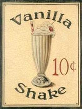 Vanilla Shake Metal Sign