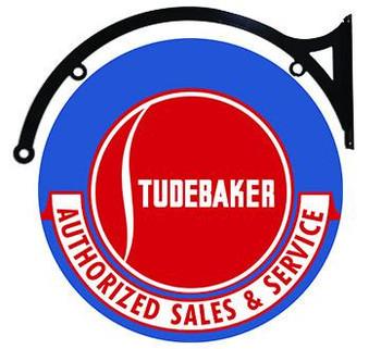 "Studebaker Sales & Service 18"" disc hanging"