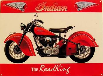 Indian Road King Motorcycle Metal Sign
