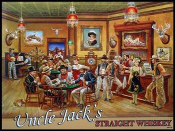 Uncle Jack's Saloon Lee Dubin Metal Sign