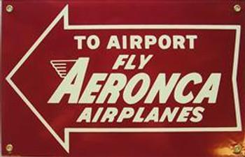 Aeronca Aiplanes Porcelain Sign