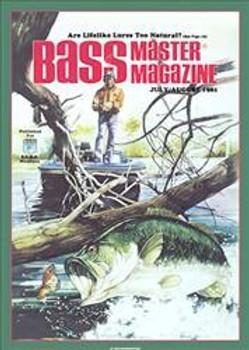 Bass Master Man Fishing Metal Sign