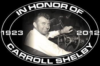 Carroll Shelby 1923-2012 Metal Sign