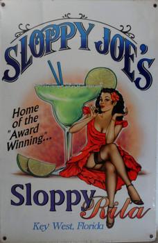 Sloppy Joe's-Sloppy Rita Metal Sign