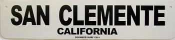 San Clemente Aluminum Sign