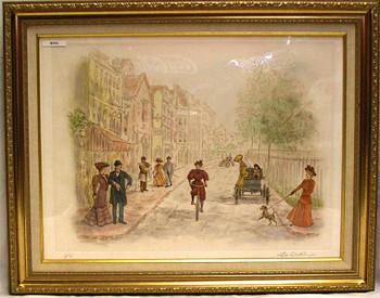 Street Scene - Original Etching