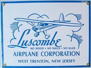 Luscombe Airlane Corporation Porcelain Sign