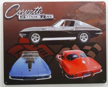 Corvette Sting Ray Metal Sign