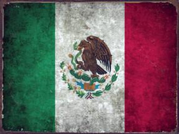 Mexico Flag Metal Sign
