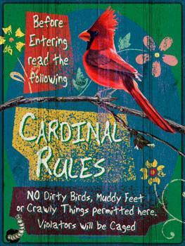 Cardinal Rules Metal Sign
