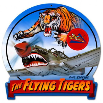 Flying Tiger Round Banner