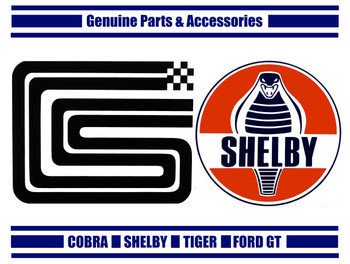 Shelby Genuine Parts Metal Sign