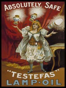 Testefas Lamp-Oil Metal Sign