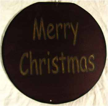 """Merry Christmas 12"""" Round Metal Sign"""