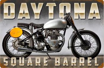 Daytona Motorcycle Metal Sign