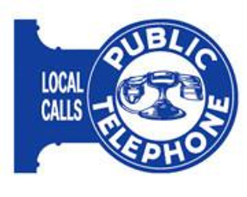 Public Telephone Flange Sign