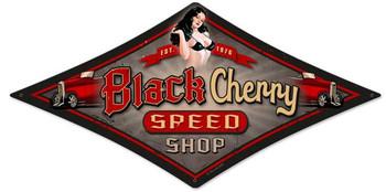 Black Cherry (diamond) Metal Sign