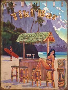 Tiki Bar Metal Sign