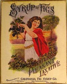Syrup of Figs-Natural Pleasant Laxative Metal Sign