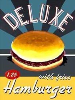 Deluxe Hamburgers Metal Signs