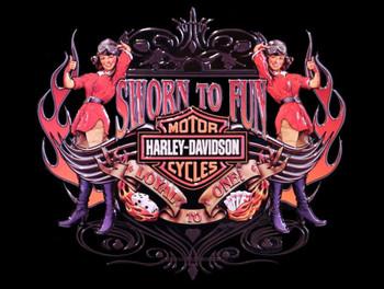 Sworn to Fun Biker Babes Harley-Davidson Metal Sign