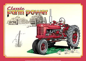 Classic Farm Power Metal Sign