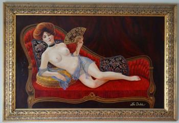 Evelyn Nesbit Original Oil Painting