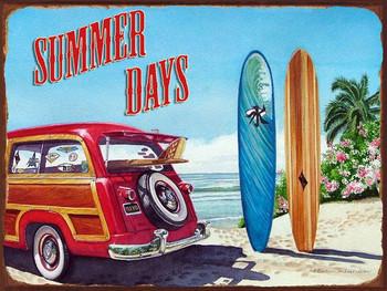 Summer Days Metal Sign