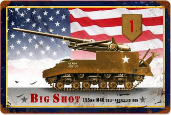 Big Shot Tank Metal Sign