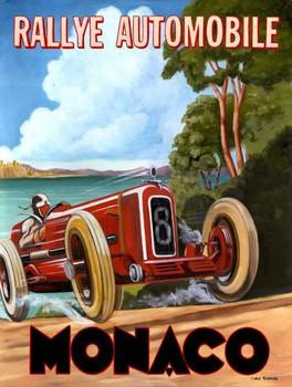 Rallye Automobile / Monaco Metal Sign