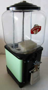 Topper 1c Gum Machine (green/black)