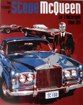 Steve McQueen Car & Motorcycle Show 2014 Laminated Art